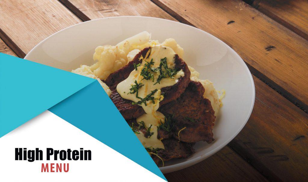 high protein menu